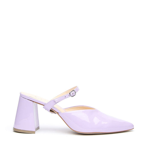 Lilac Gloss V Mule + Twiggy Strap - Customizable Mules  | Alterre Interchangeable Mule - Sustainable Footwear & Ethical Shoes