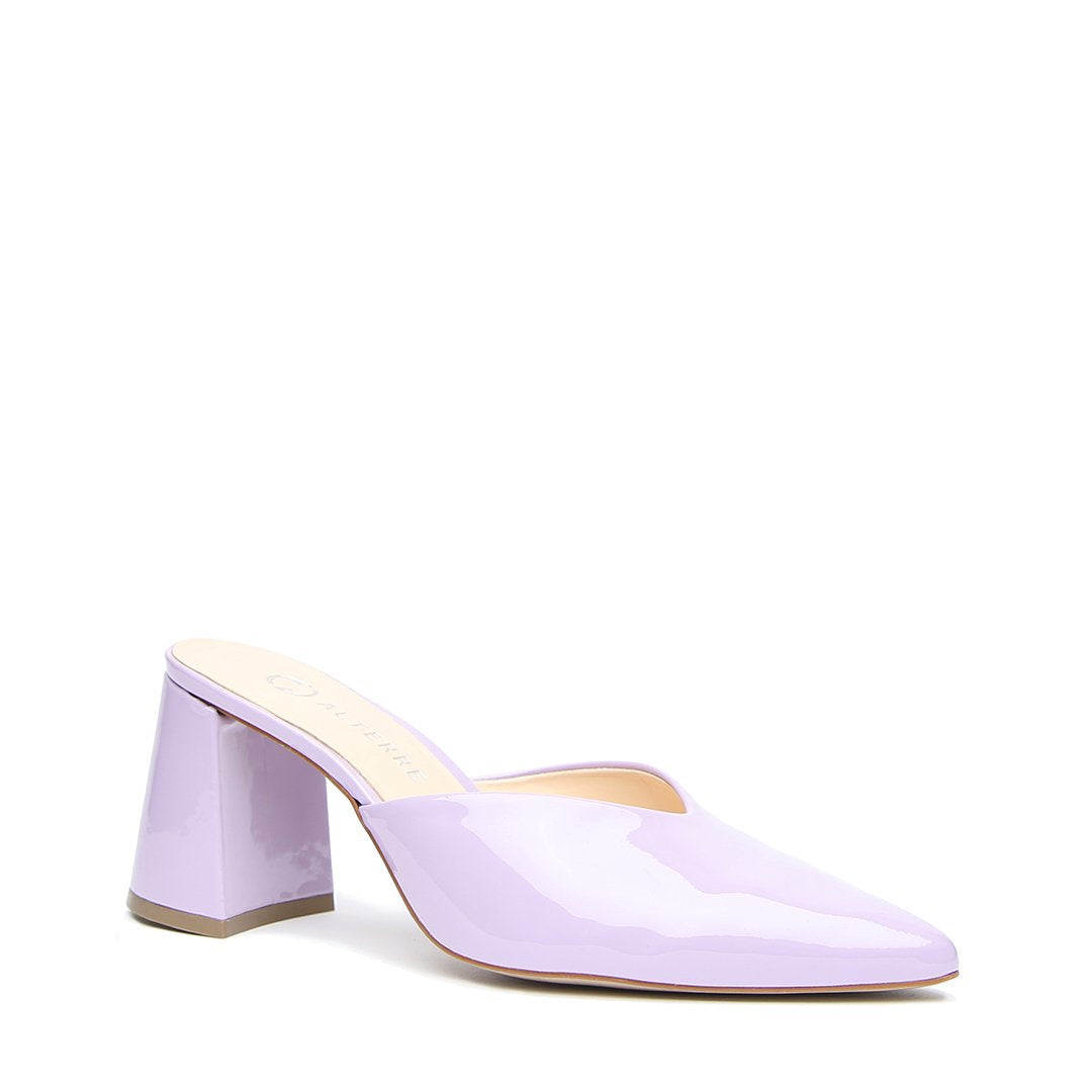 Lilac Gloss V Customized Mules | Alterre Make A Shoe - Sustainable Shoes & Ethical Footwear