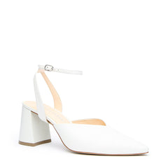 White V Mule + Marilyn Strap - Customized Mules | Alterre Make A Shoe - Sustainable Bridal Shoes & Ethical Footwear