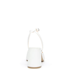 White V Mule + Marilyn Strap  | Alterre Create Your Own Mule - Sustainable Bridal Footwear & Ethical Shoe Company