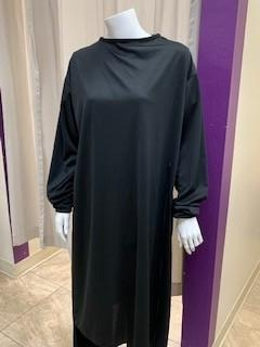 SURGICAL GOWN BLACK M/L LIGHTWEIGHT FABRIC IN PAK OF 6
