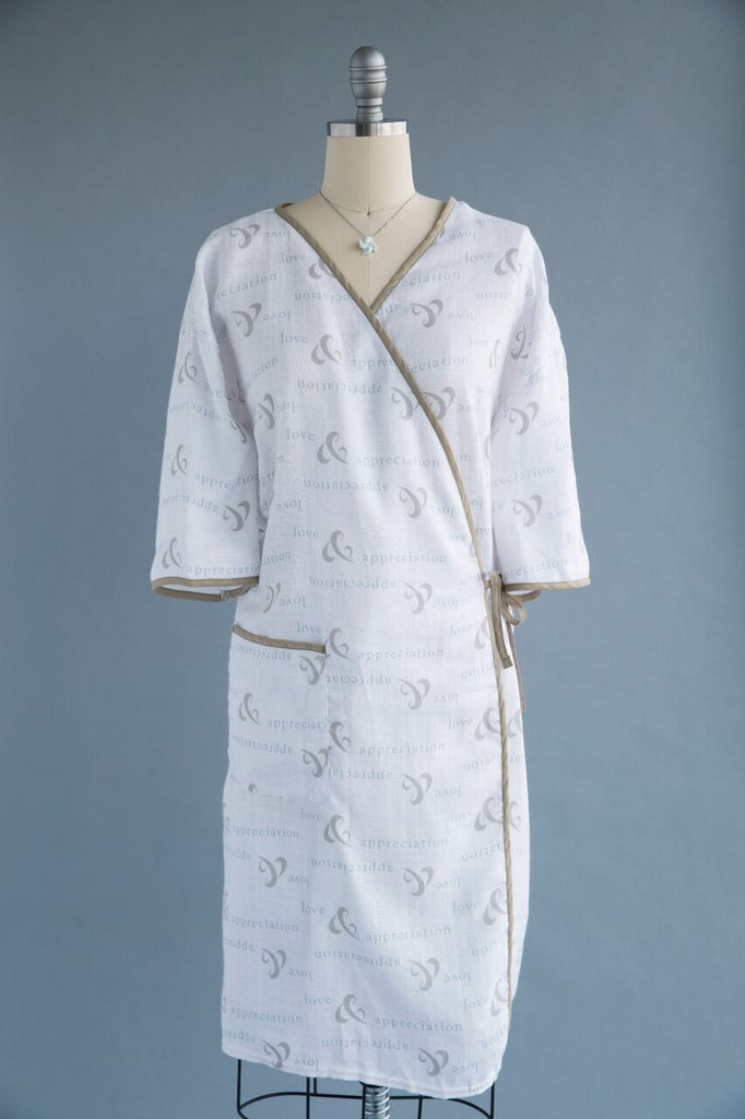 Flannel Patient Gown