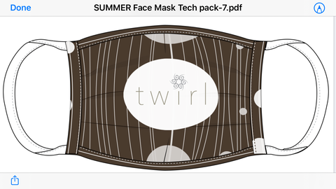 Twirl 2ply Summer Mask
