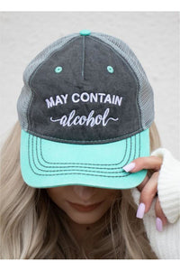 May Contain Alcohol Embroidered Trucker Hat