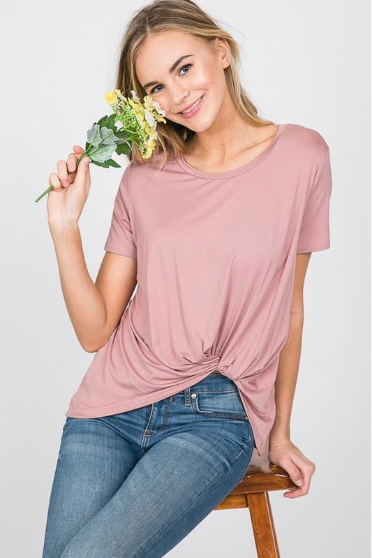 Modal Scoop Neck T Shirt