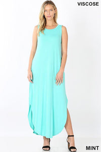 Mint Sleeveless Maxi Dress