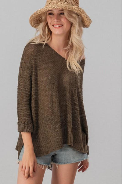 Dolman Sleeve One Size Sweater 5 Colors