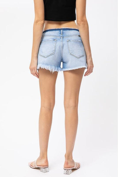Low Rise Button Fly Kancan Shorts