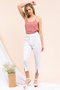 White Cropped Pant