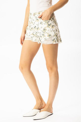 Floral Kancan High Rise Shorts