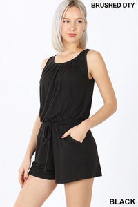 Black Sleeveless Romper