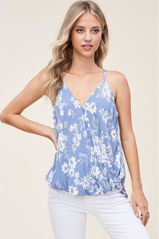 Periwinkle Blue Floral Tank Top