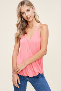 Coral Swiss Dot Tank Top