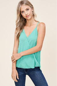 Emerald Green Swiss Dot Tank Top