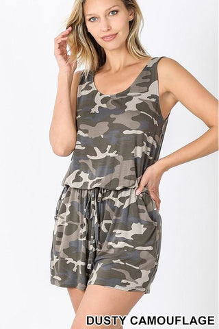 Light Olive Camo Romper