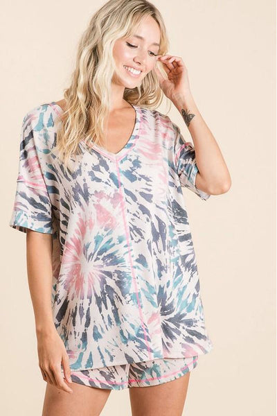 Tie Dye Short & Top Lounge Set