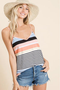 Multi Color Striped Tank Top