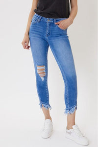 Jenna Twisted Side Line Kancan Jeans