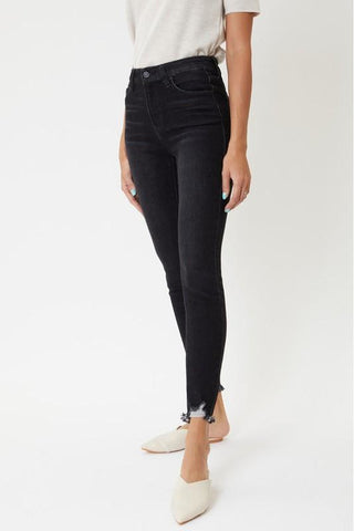 Lexi Dark Gray High Rise Ankle Skinny Kancan Jeans