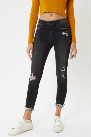 Bekka Black Button Fly Kancan Skinny Jean