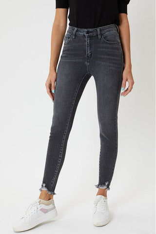 Lexi Light Gray High Rise Ankle Skinny Kancan Jeans