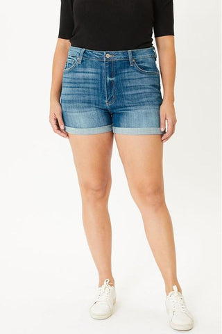 Sally High Rise Curvy Kancan Shorts