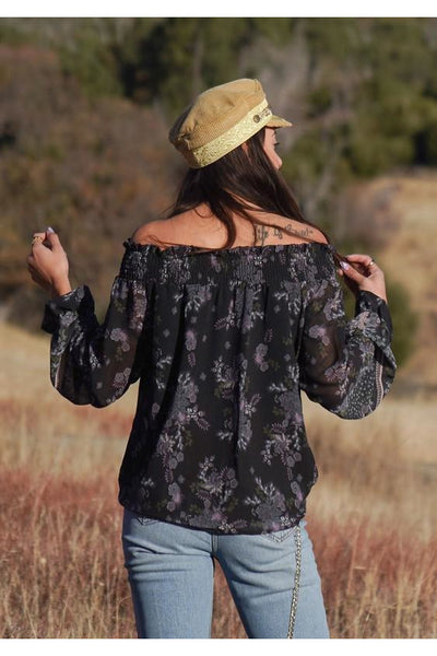 Boho Floral Off Shoulder Top