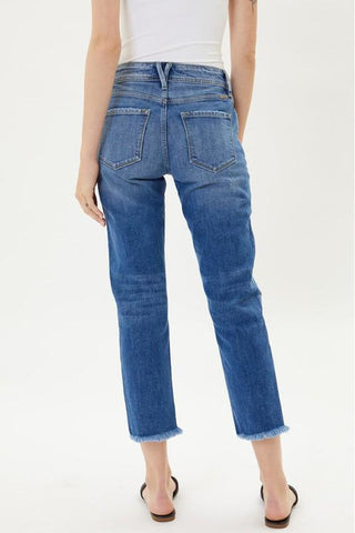 Carrie High Rise Slim Straight Kancan Jean