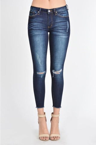 KANCAN ANKLE SKINNY MID-RISE JEAN - Classic Trendz Boutique