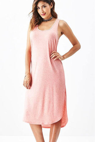 Coral Two Tone Basic Tank Dress