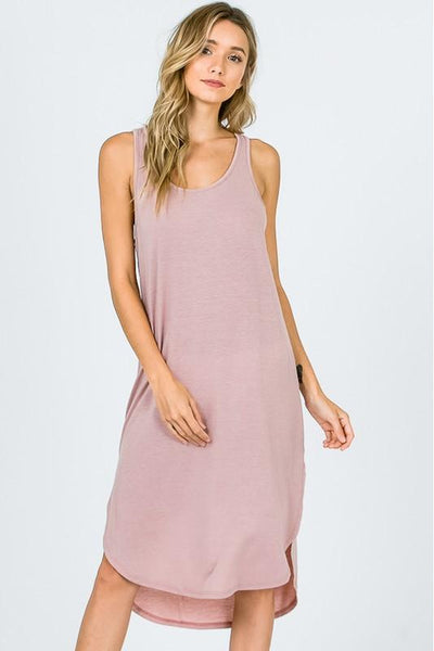 Mauve  Basic Tank Dress
