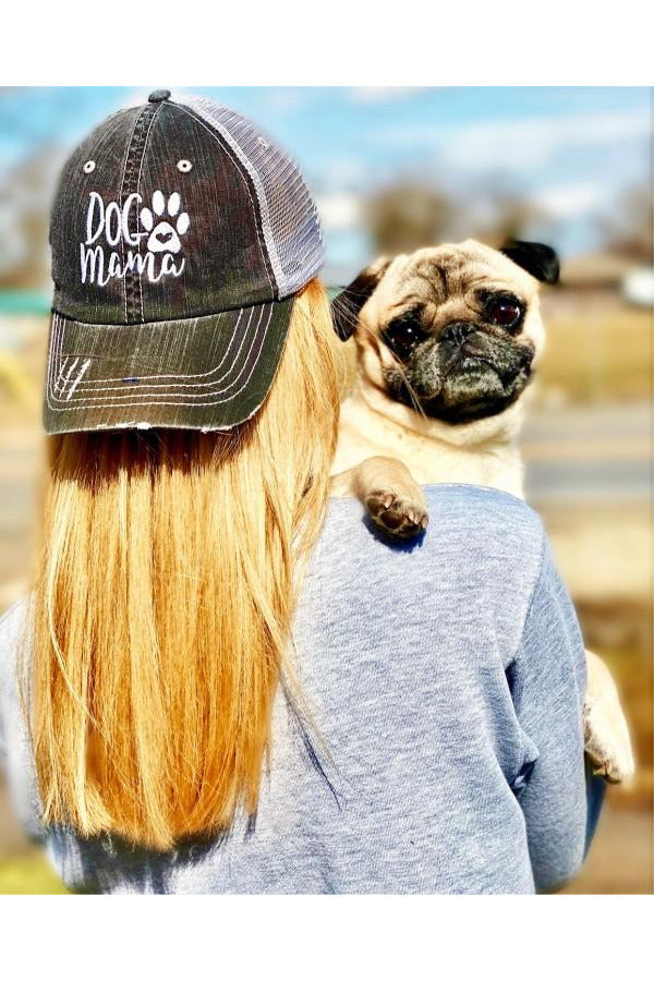 Dog Mama Embroidered Trucker Hat