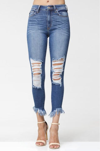 KANCAN ANKLE SKINNY HIGH-RISE JEAN - Classic Trendz Boutique