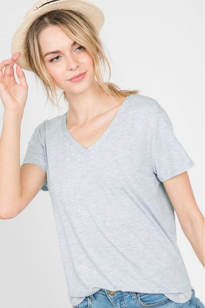 Modal Short Sleeve V-Neck Top