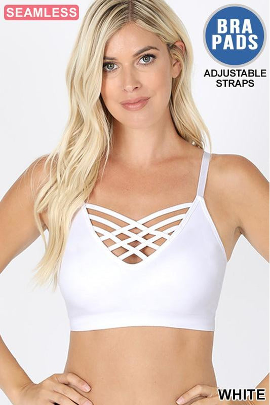 White Criss Cross Bralette