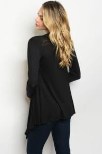 Black Lightweight Cardigan