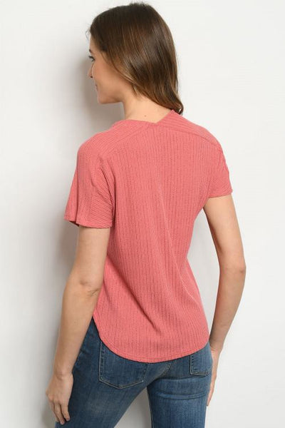 Rose Textured Top