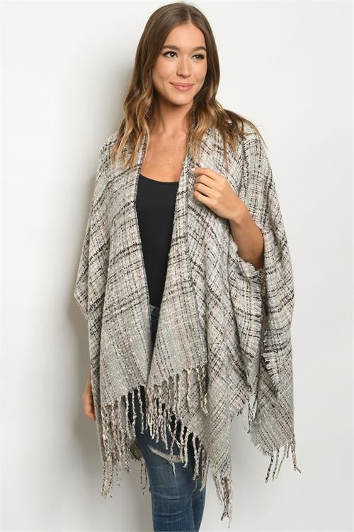 Gray & Ivory Shawl