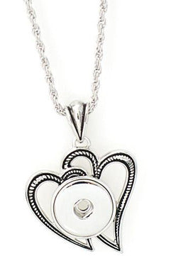 Double Heart Necklace - Trendz Snap Jewelry