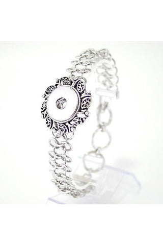 Enchanting Silver Bracelet - Trendz Snap Jewelry