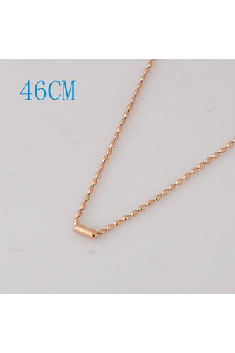 18 Inch Necklace Rose Gold Chain - Trendz Snap Jewelry