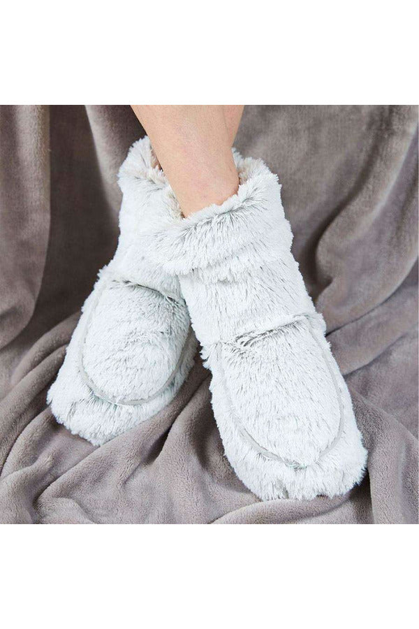 Marshmallow Gray Warmies Boots