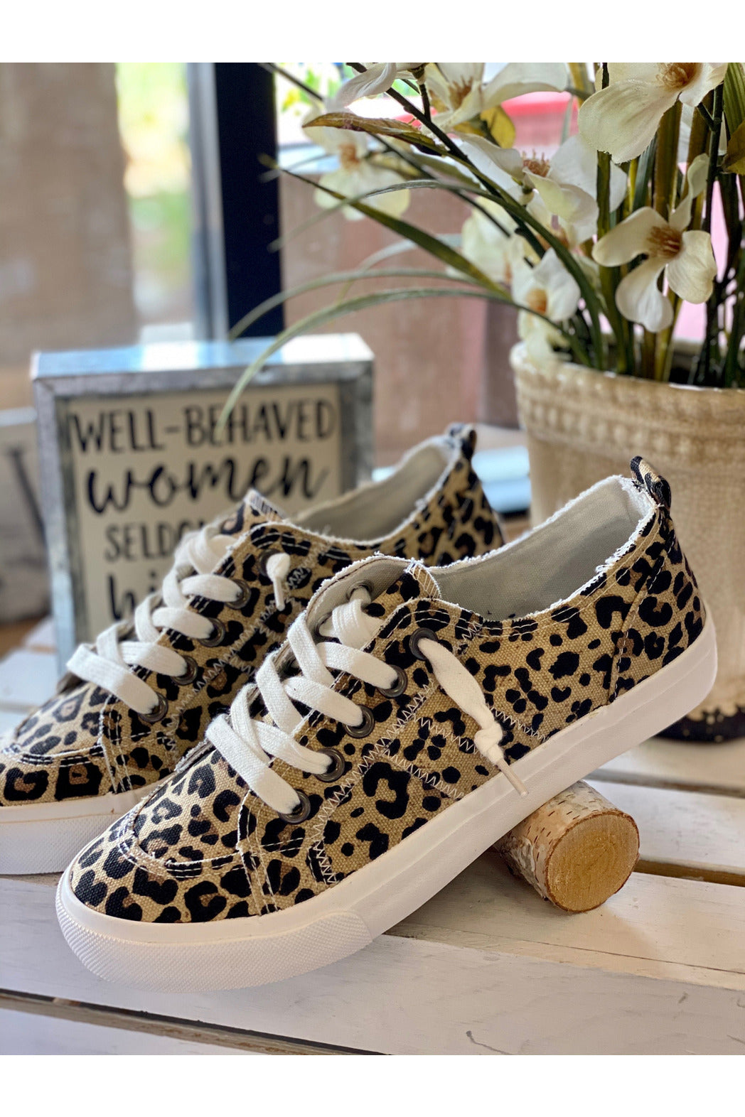 Leopard Print Slip On Canvas Sneaker