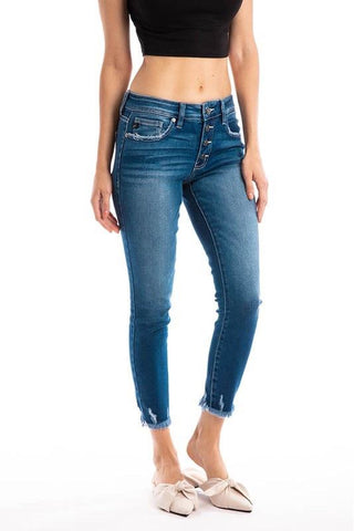 Lindsey Kancan Mid Rise Jeans
