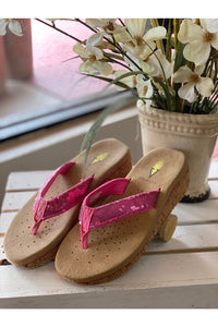 Pink Sequin Volatile Sandal