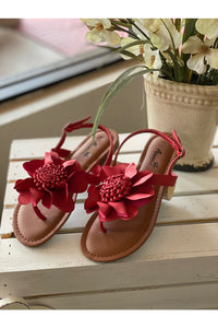 Red Flower Sandal