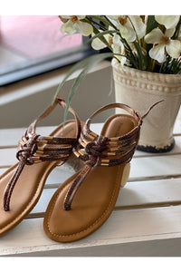 Brown Snake Print Sandal