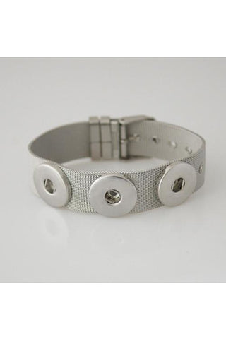 Trendy Stainless Steel Bracelet - Trendz Snap Jewelry