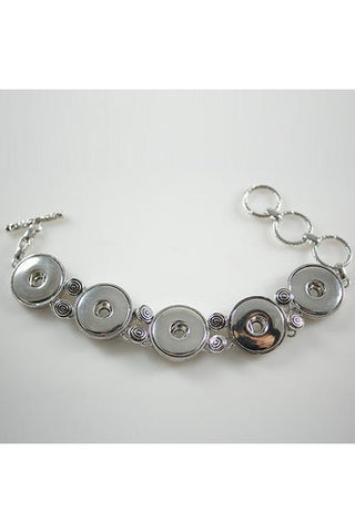 In for a Treat Silver Bracelet - Trendz Snap Jewelry