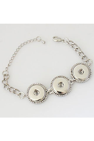 Better in Three's Silver Bracelet - Trendz Snap Jewelry